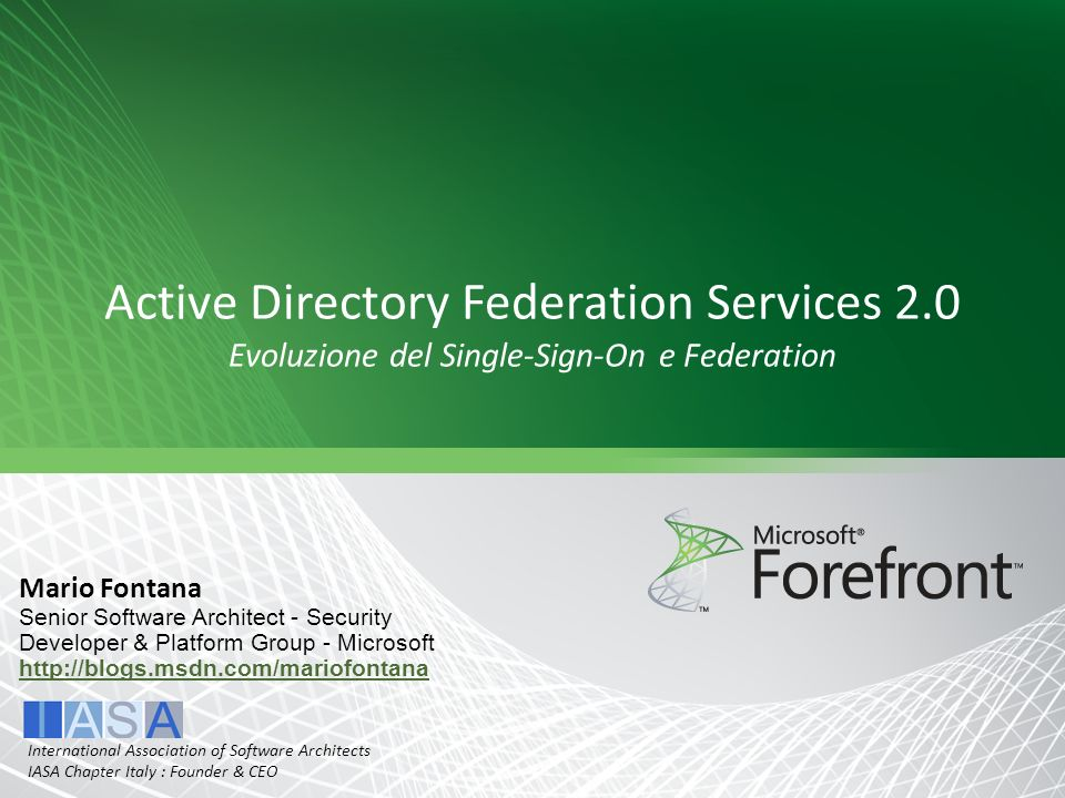 Active Directory Federation Services 2