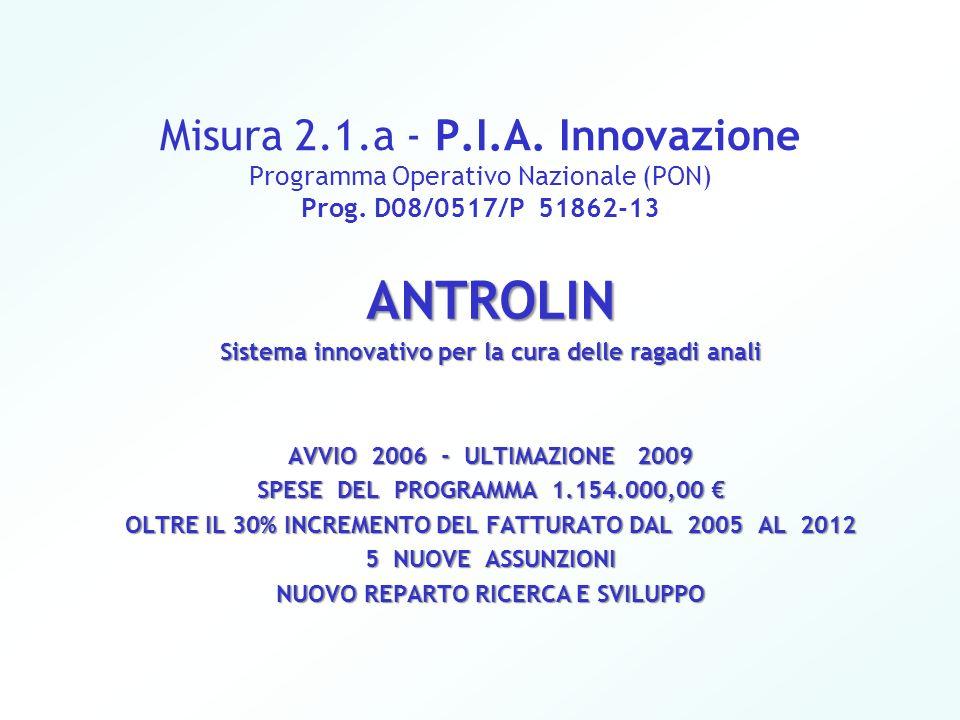 Misura 2.1.a - P.I.A. Innovazione Programma Operativo Nazionale (PON) Prog. D08/0517/P 51862-13