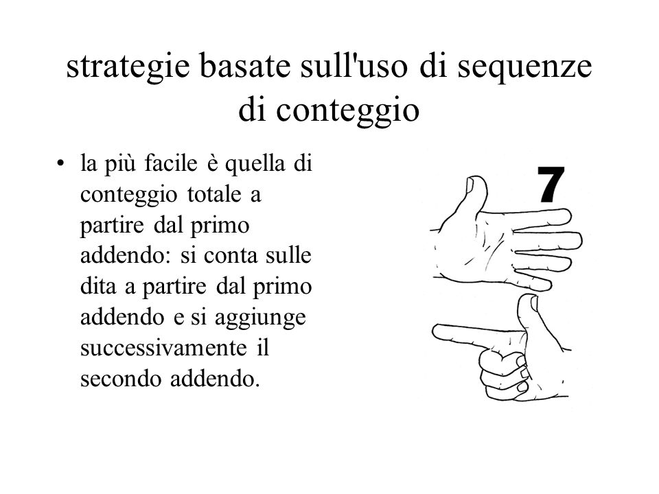 strategie basate sull uso di sequenze di conteggio