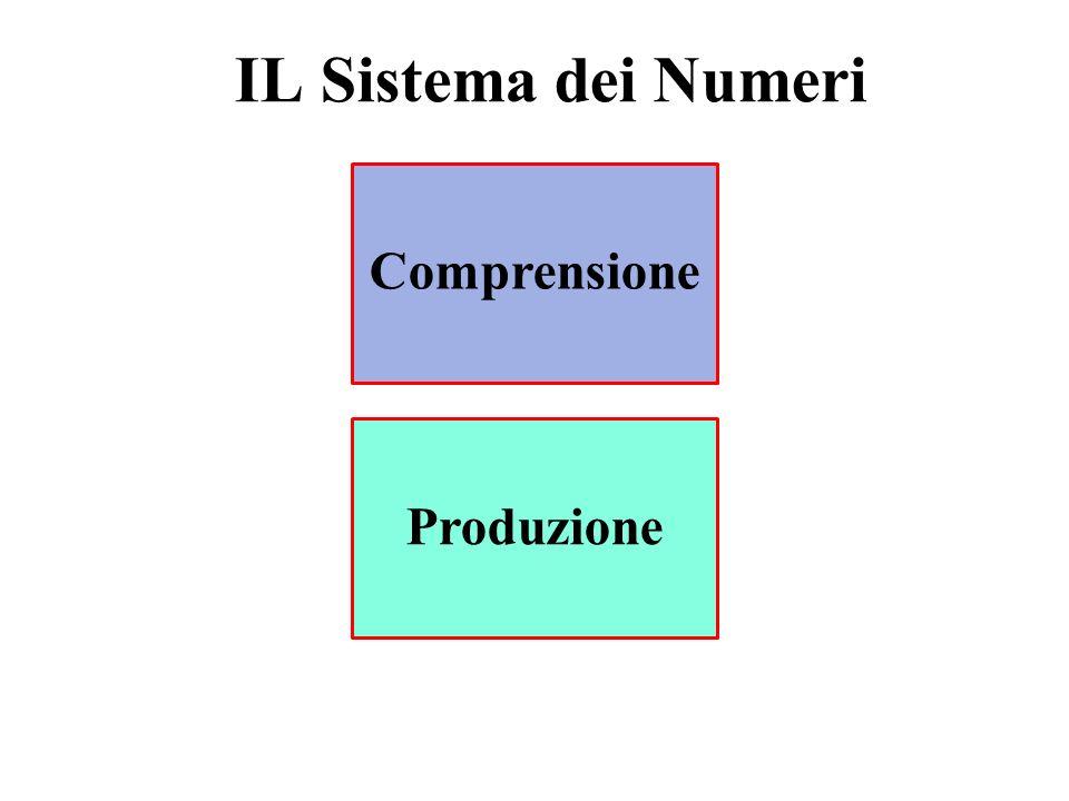 IL Sistema dei Numeri Comprensione Produzione