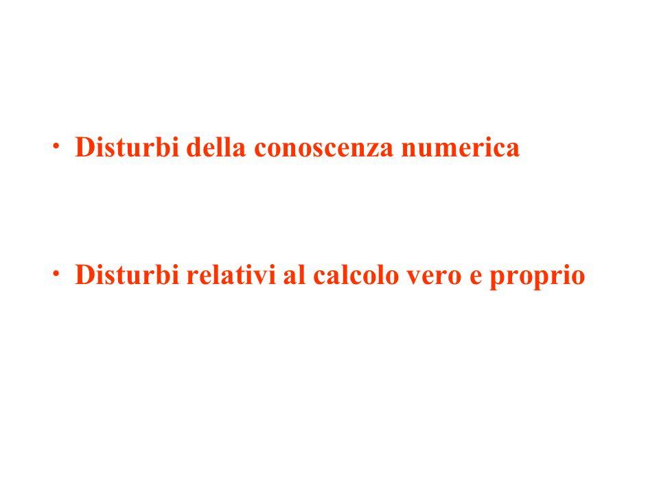 Disturbi della conoscenza numerica