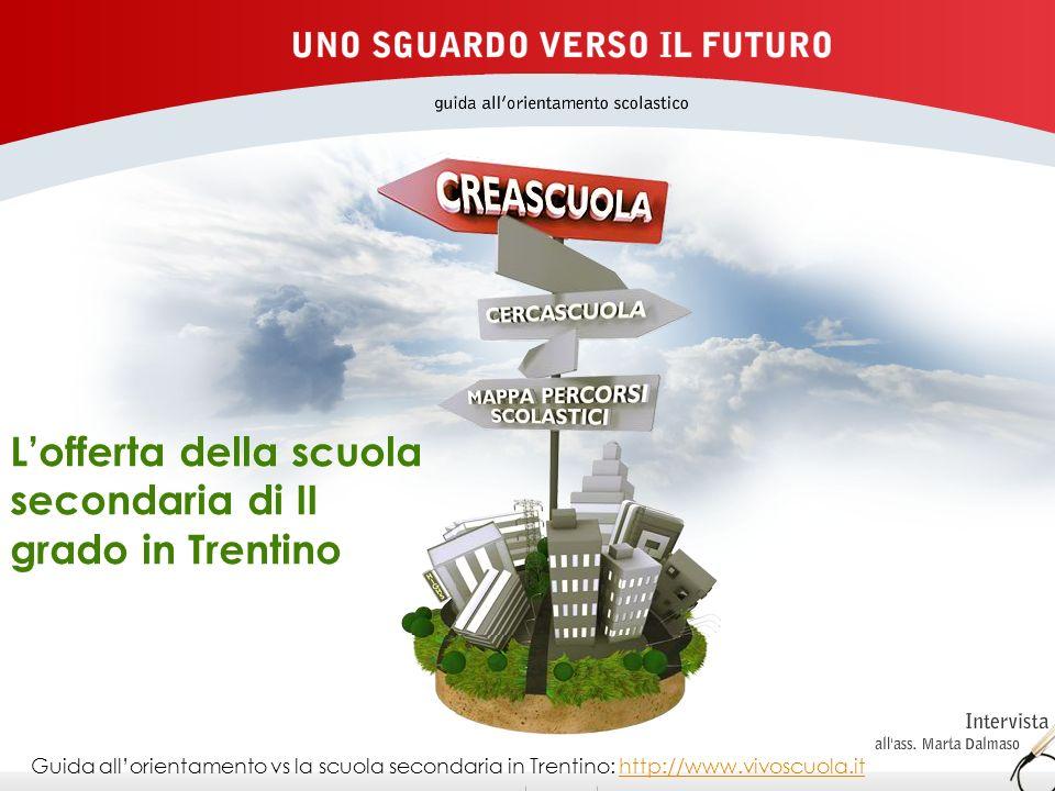 L'offerta della scuola secondaria di II grado in Trentino