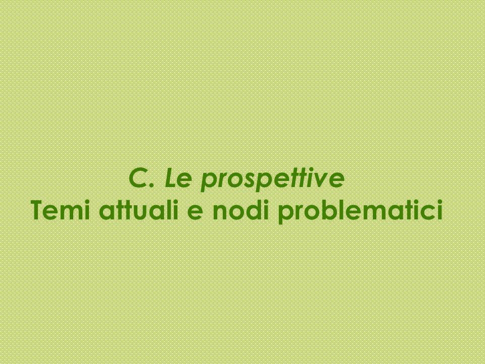 C. Le prospettive Temi attuali e nodi problematici