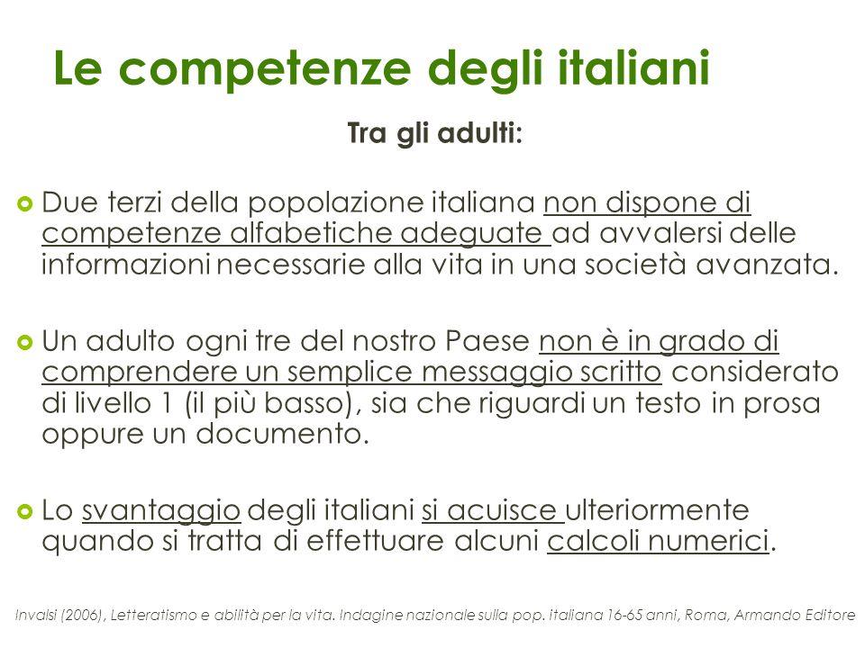 Le competenze degli italiani