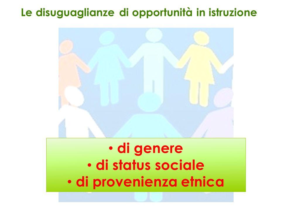 di genere di status sociale di provenienza etnica