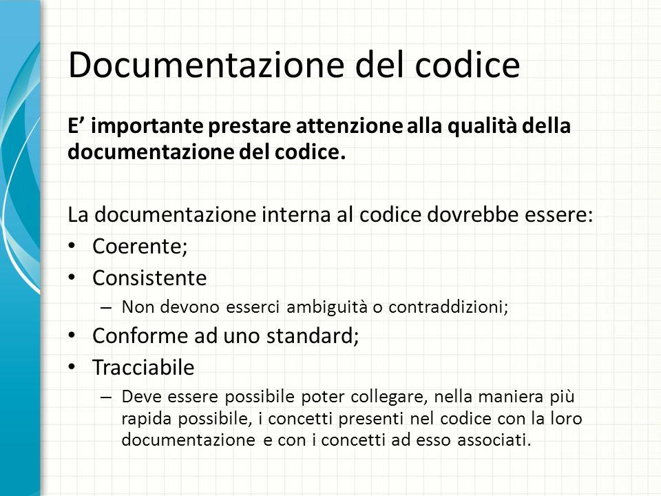 Documentazione del codice