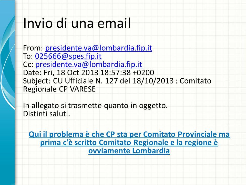 Invio di una email