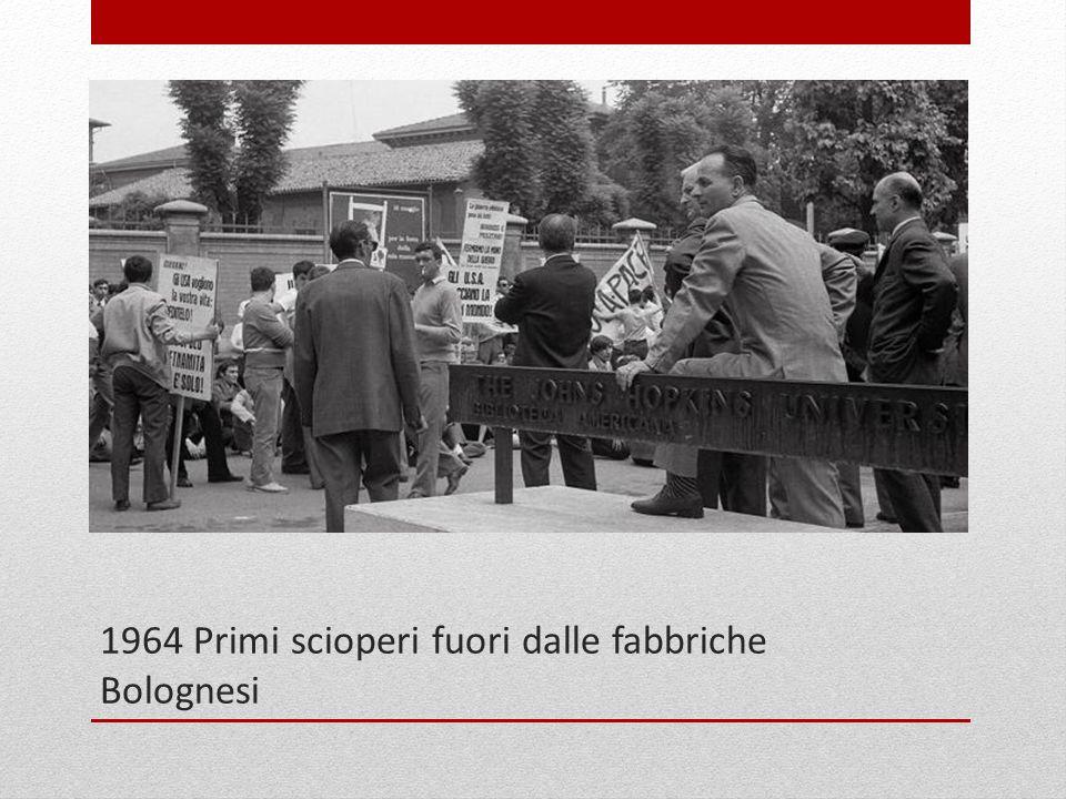 1964 Primi scioperi fuori dalle fabbriche Bolognesi