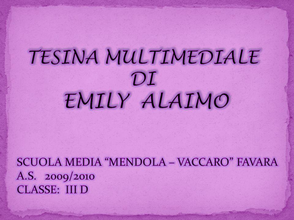 TESINA MULTIMEDIALE DI EMILY ALAIMO
