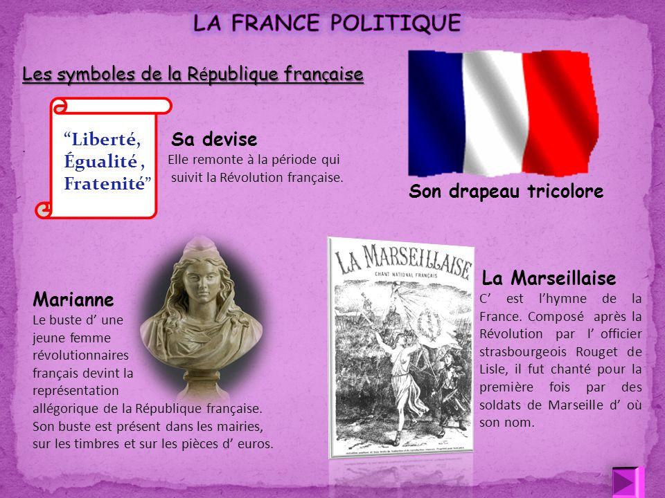 LA FRANCE POLITIQUE Les symboles de la République française Liberté,