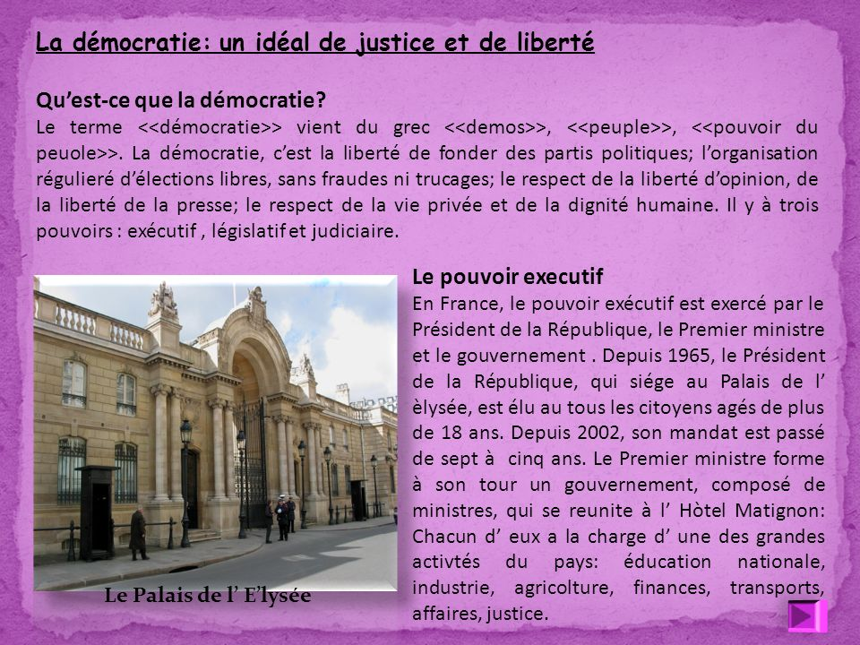 La démocratie: un idéal de justice et de liberté