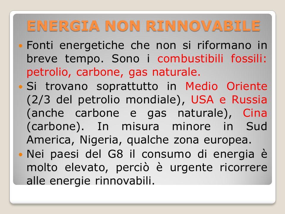ENERGIA NON RINNOVABILE