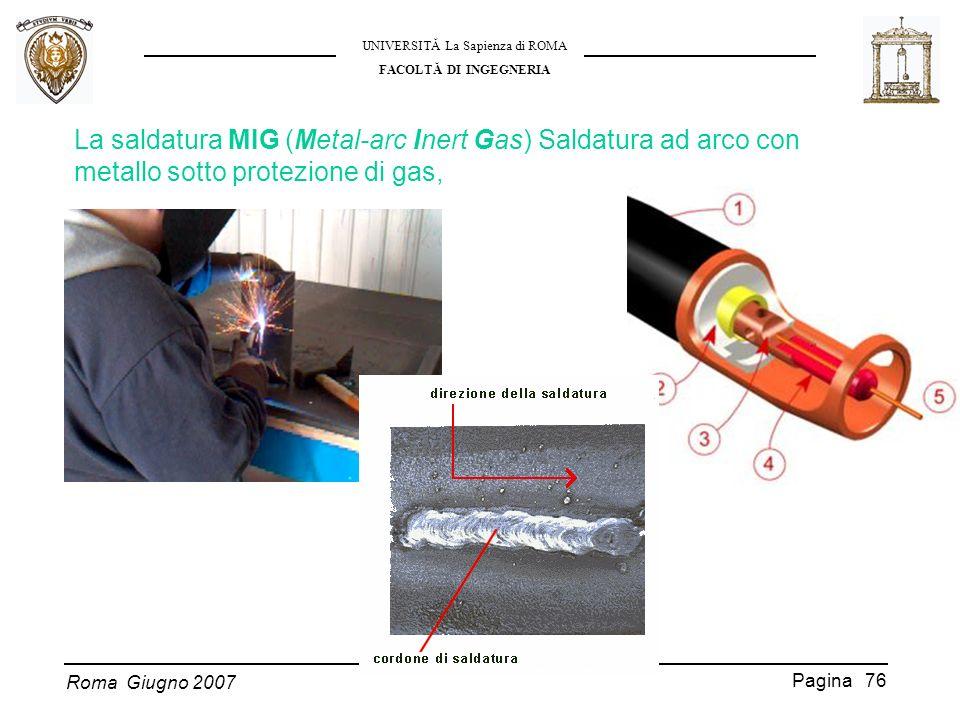 La saldatura MIG (Metal-arc Inert Gas) Saldatura ad arco con metallo sotto protezione di gas,