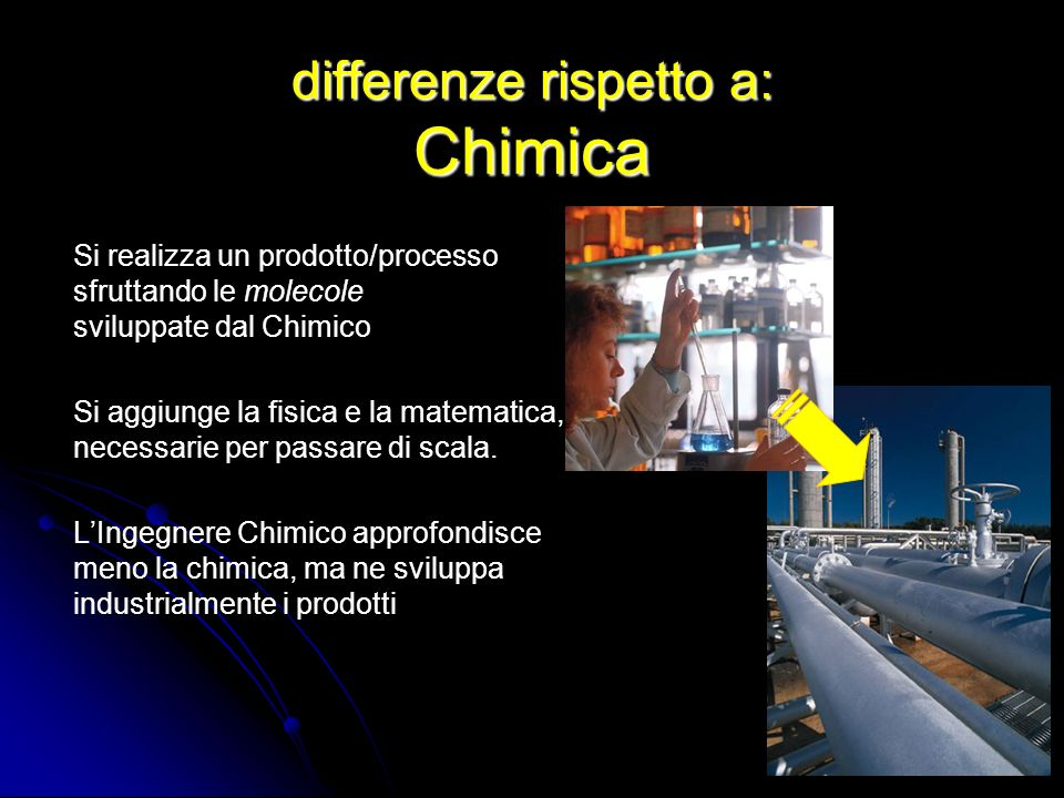 differenze rispetto a: Chimica