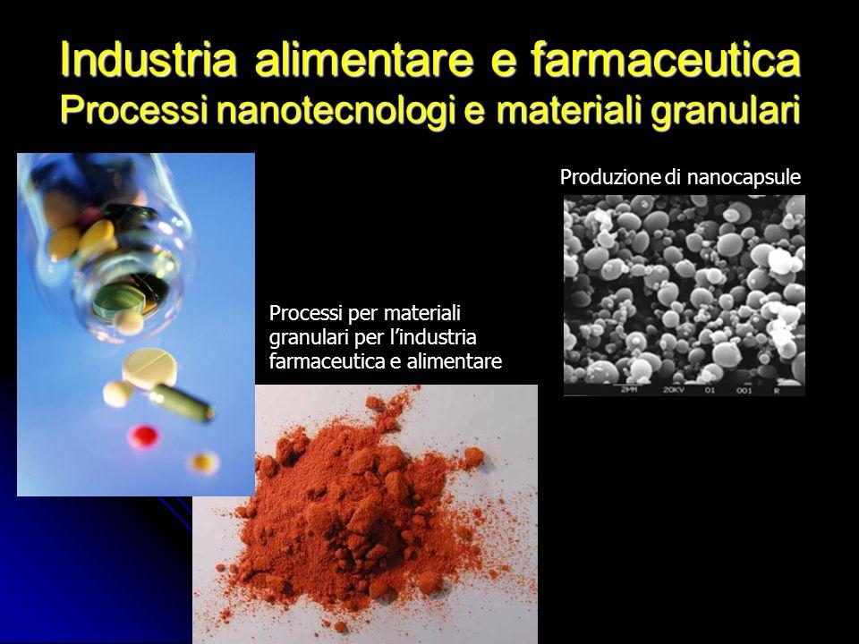Industria alimentare e farmaceutica Processi nanotecnologi e materiali granulari