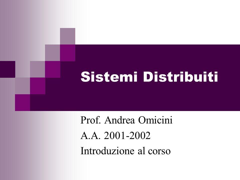 Prof. Andrea Omicini A.A. 2001-2002 Introduzione al corso