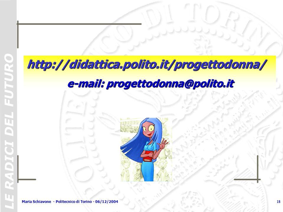 e-mail: progettodonna@polito.it