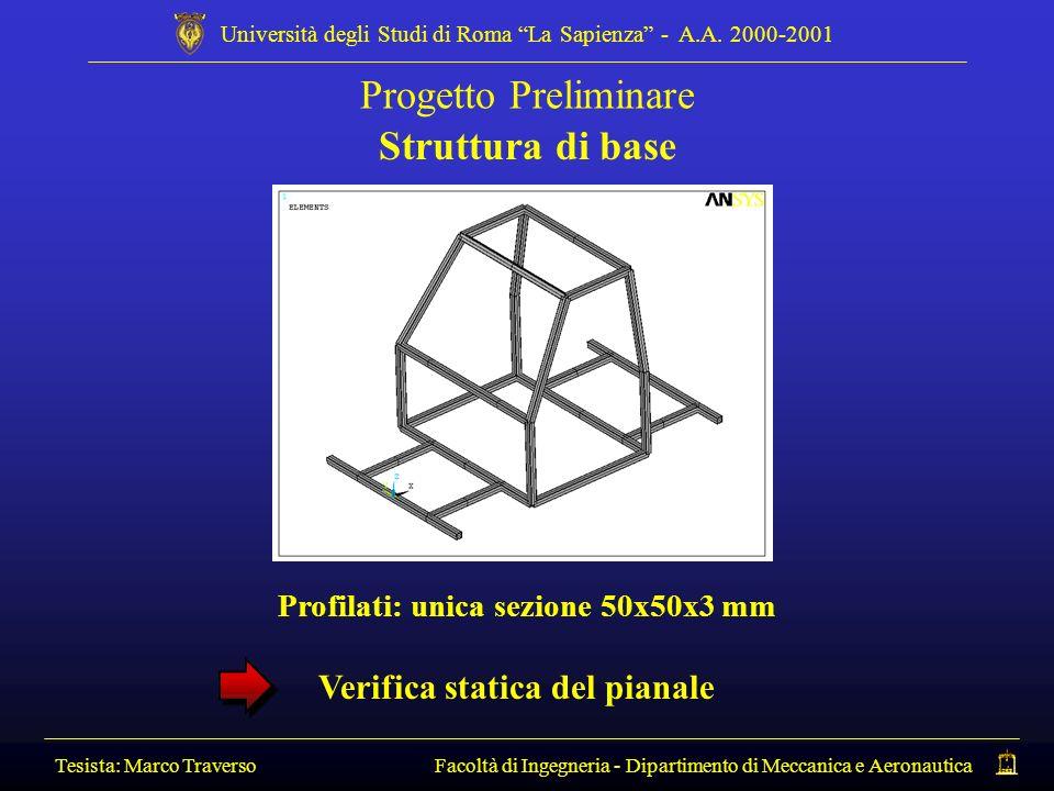 Profilati: unica sezione 50x50x3 mm