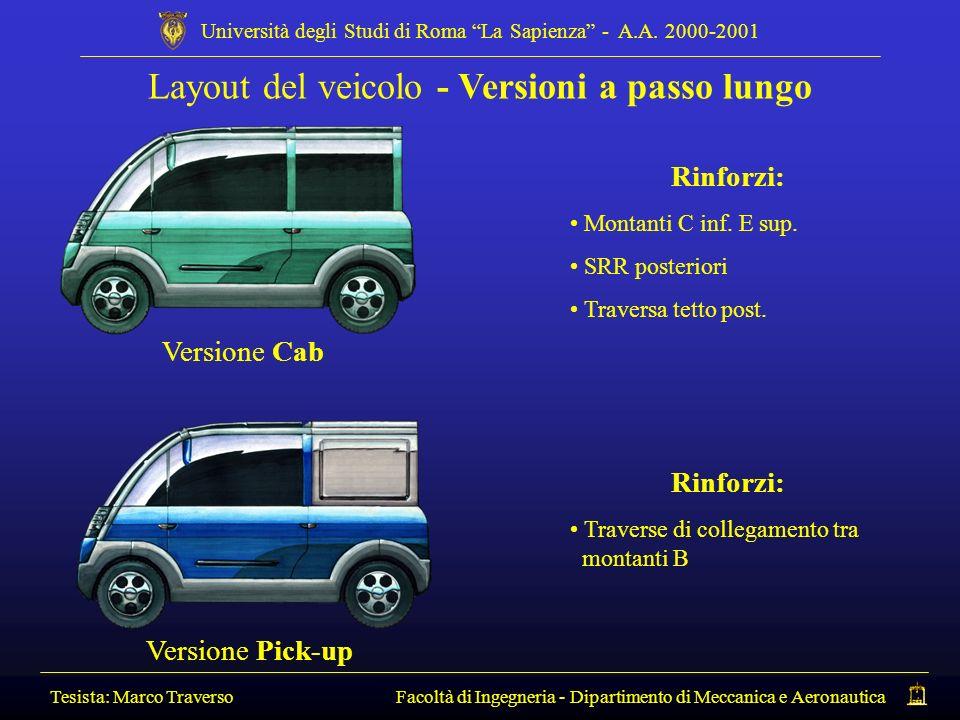 Layout del veicolo - Versioni a passo lungo