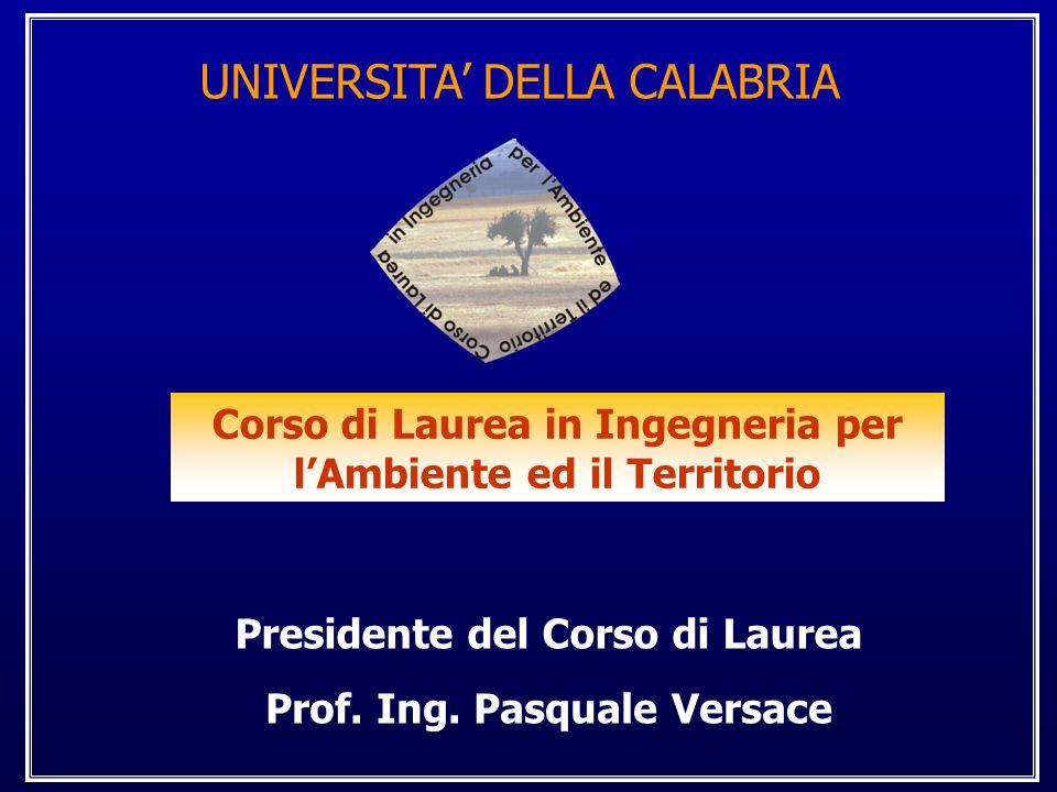 Corso di Laurea in Ingegneria per l'Ambiente ed il Territorio