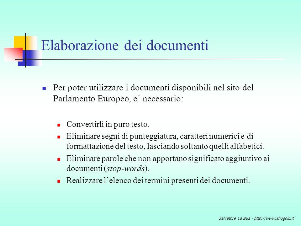 Elaborazione dei documenti