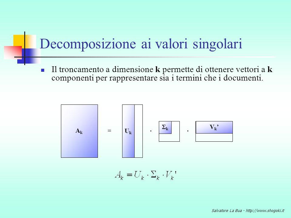 Decomposizione ai valori singolari