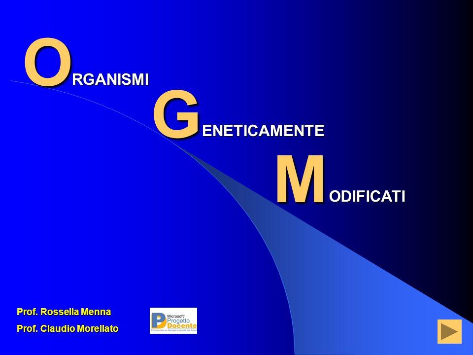 O G M RGANISMI ENETICAMENTE ODIFICATI Prof. Rossella Menna