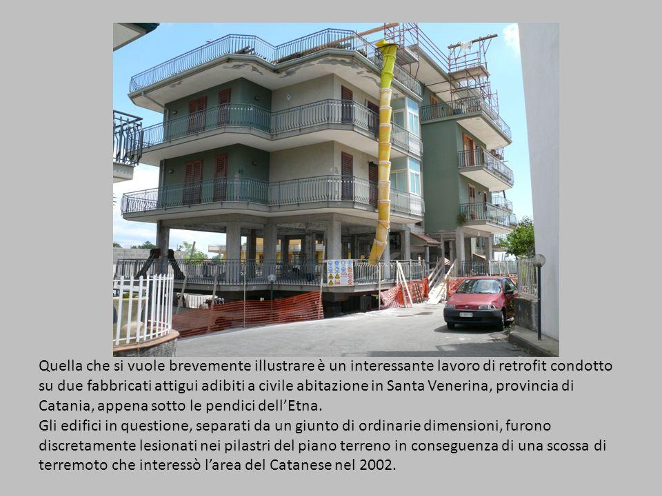 Quella che si vuole brevemente illustrare è un interessante lavoro di retrofit condotto su due fabbricati attigui adibiti a civile abitazione in Santa Venerina, provincia di Catania, appena sotto le pendici dell'Etna.