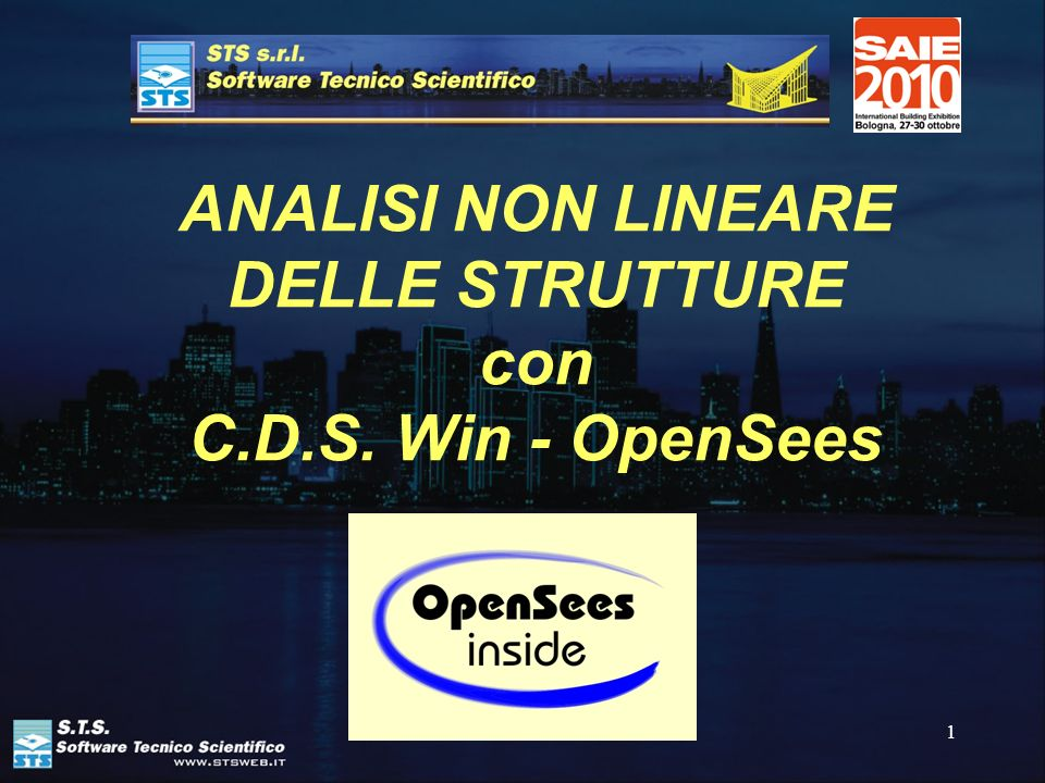 ANALISI NON LINEARE DELLE STRUTTURE con C.D.S. Win - OpenSees