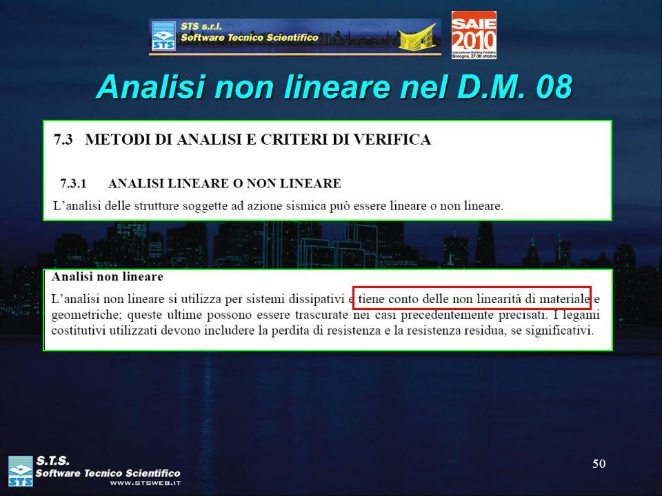 Analisi non lineare nel D.M. 08