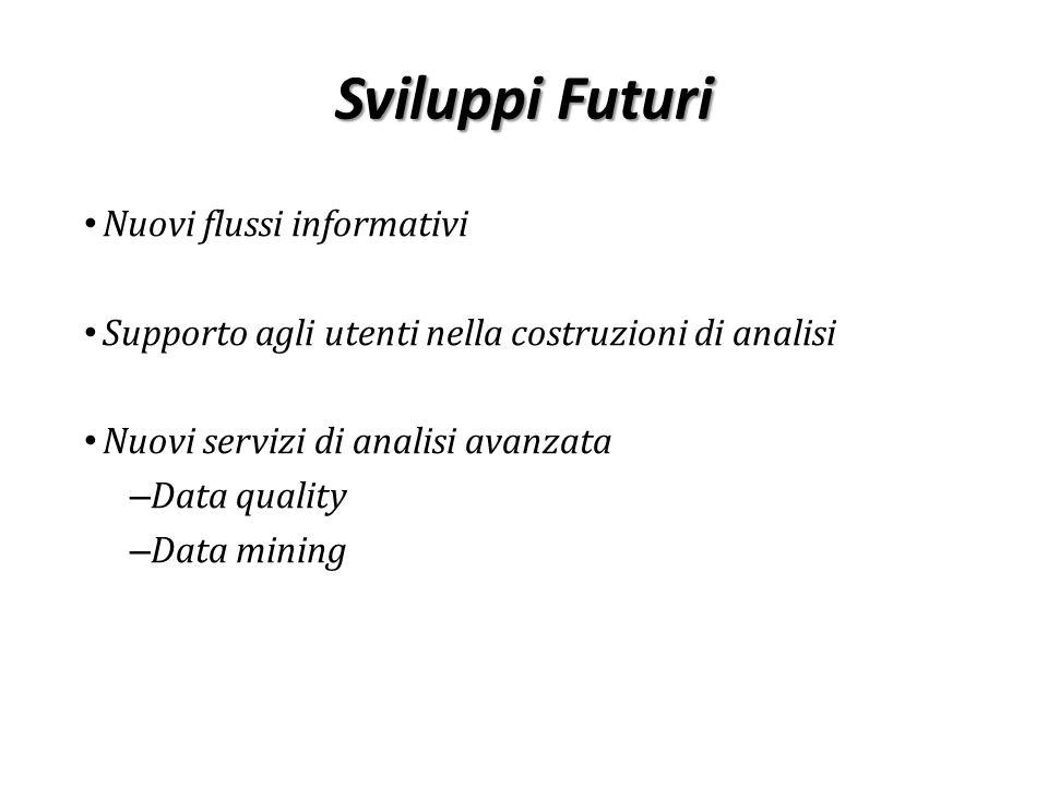 Sviluppi Futuri Nuovi flussi informativi