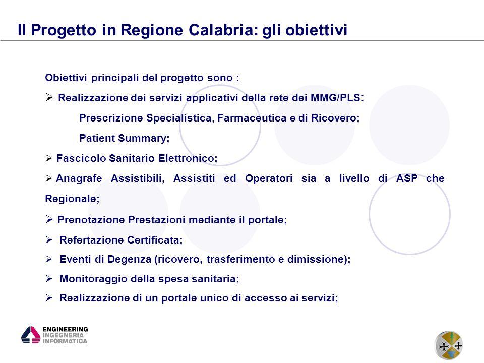 Il Progetto in Regione Calabria: gli obiettivi