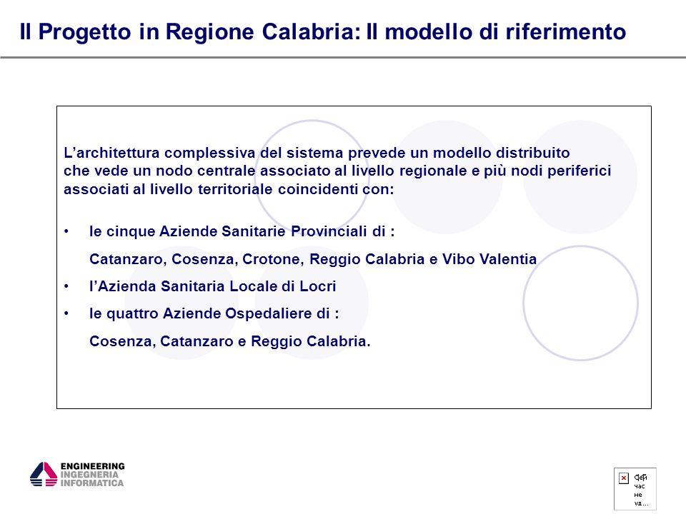 Il Progetto in Regione Calabria: Il modello di riferimento