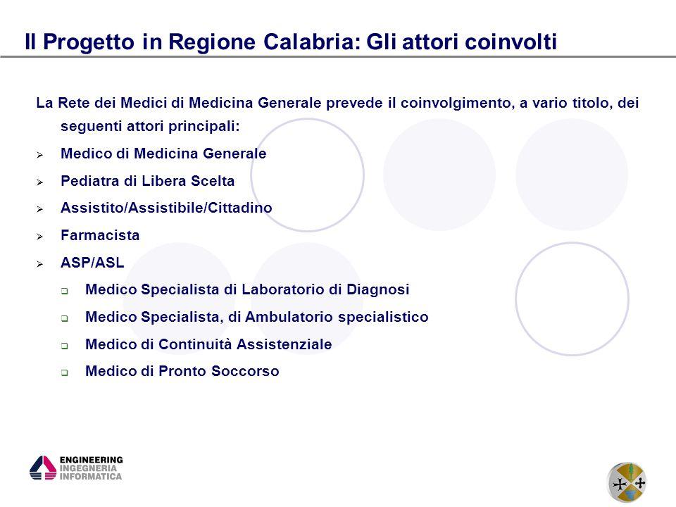 Il Progetto in Regione Calabria: Gli attori coinvolti