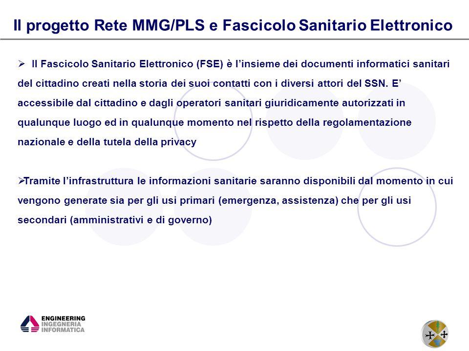 Il progetto Rete MMG/PLS e Fascicolo Sanitario Elettronico