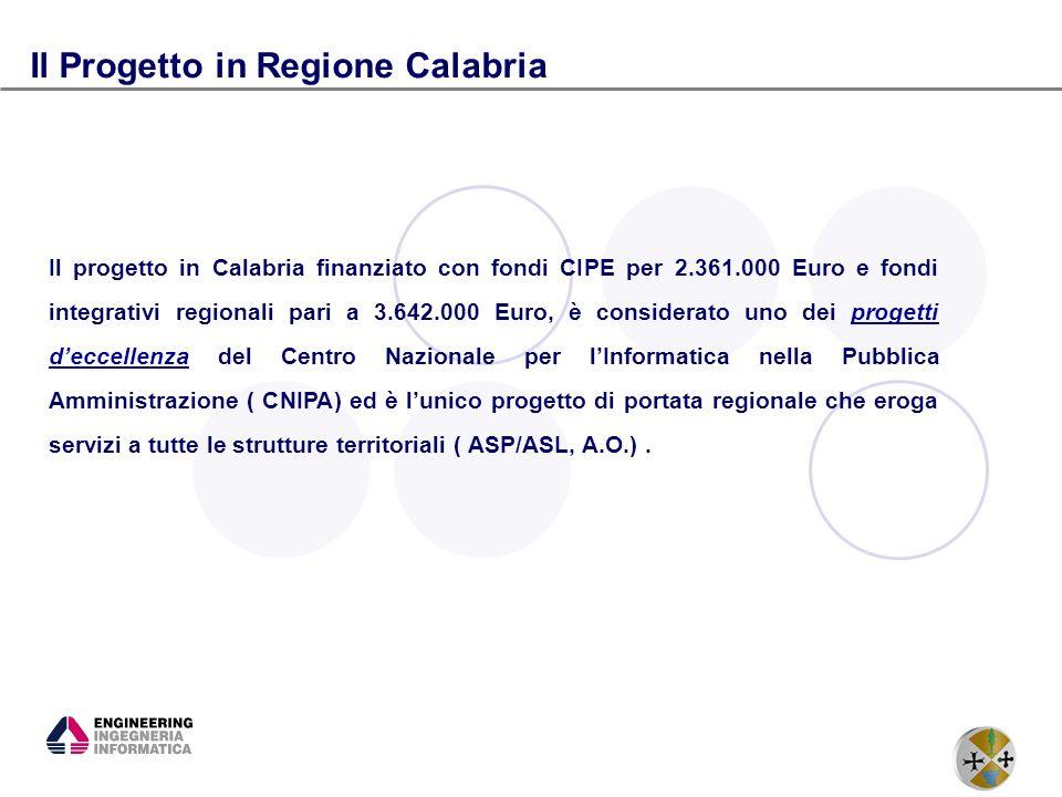 Il Progetto in Regione Calabria
