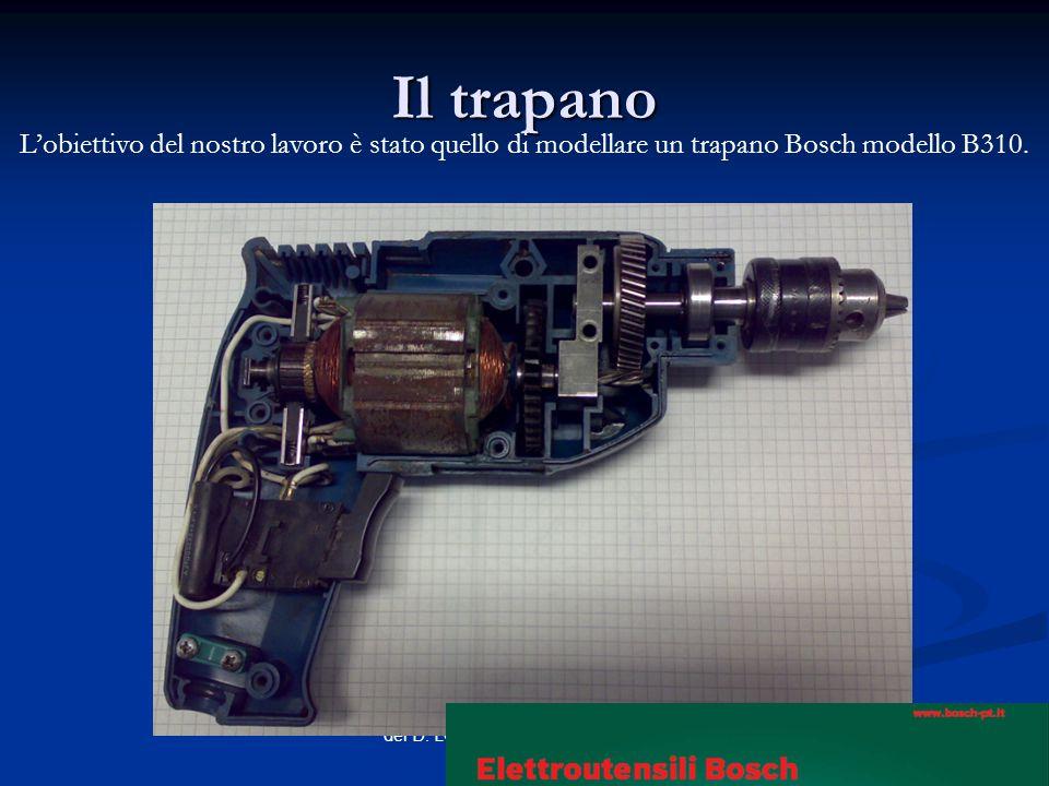 Il trapanoL'obiettivo del nostro lavoro è stato quello di modellare un trapano Bosch modello B310.