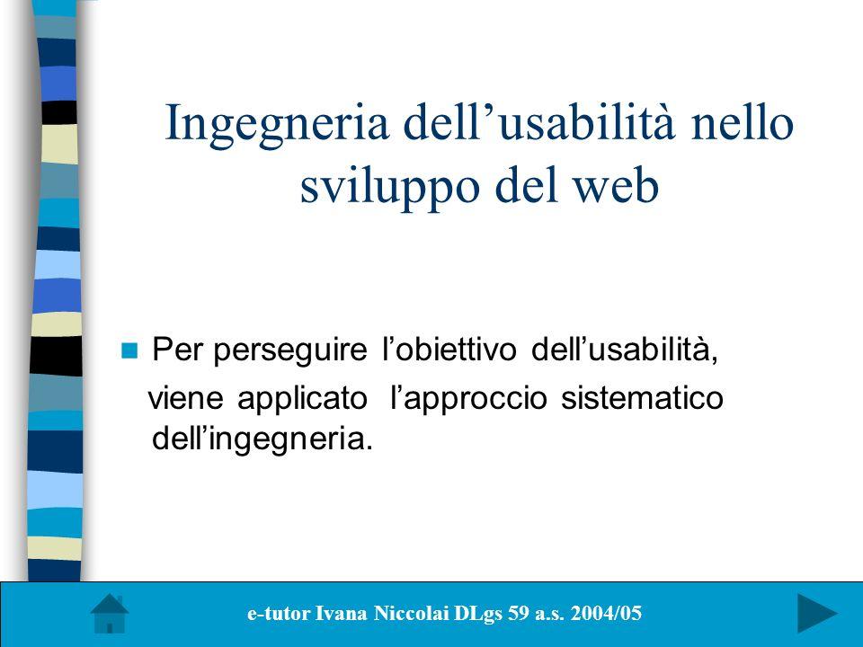 Ingegneria dell'usabilità nello sviluppo del web