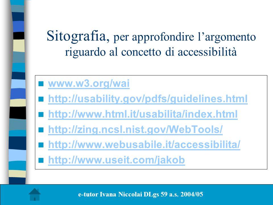 e-tutor Ivana Niccolai DLgs 59 a.s. 2004/05