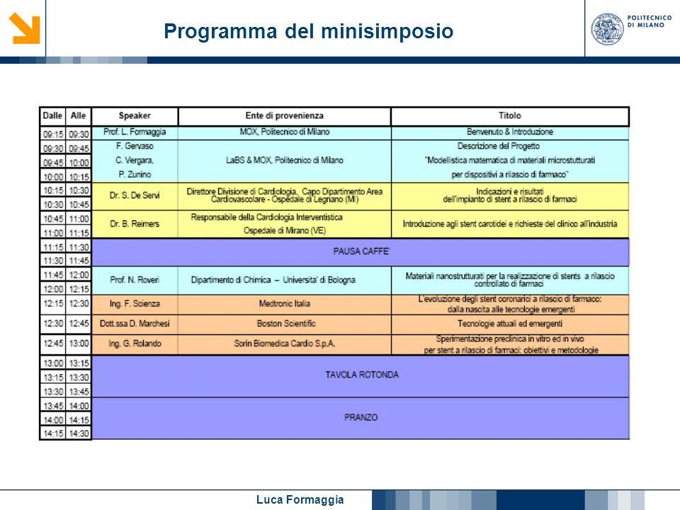 Programma del minisimposio