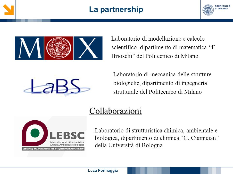 Collaborazioni La partnership