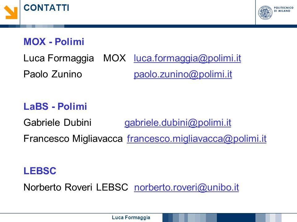 Luca Formaggia MOX luca.formaggia@polimi.it