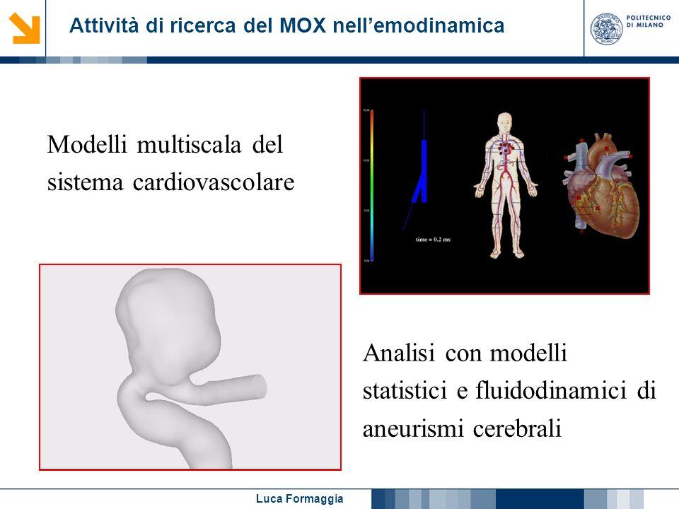 Attività di ricerca del MOX nell'emodinamica