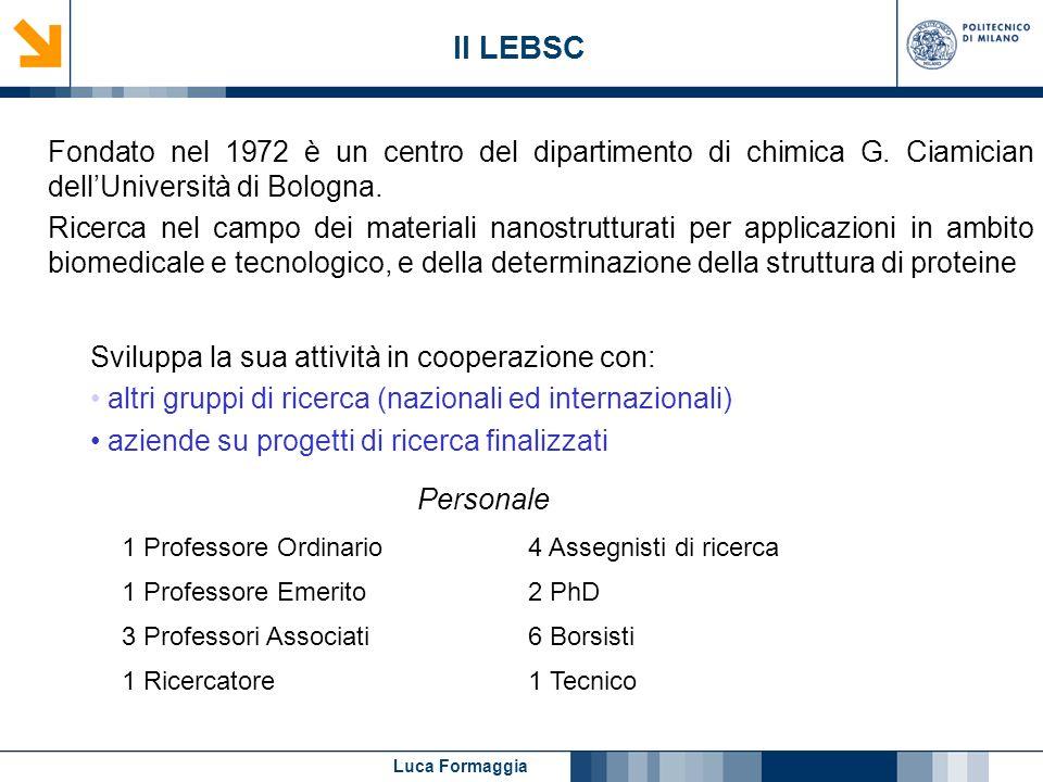 Il LEBSC Fondato nel 1972 è un centro del dipartimento di chimica G. Ciamician dell'Università di Bologna.