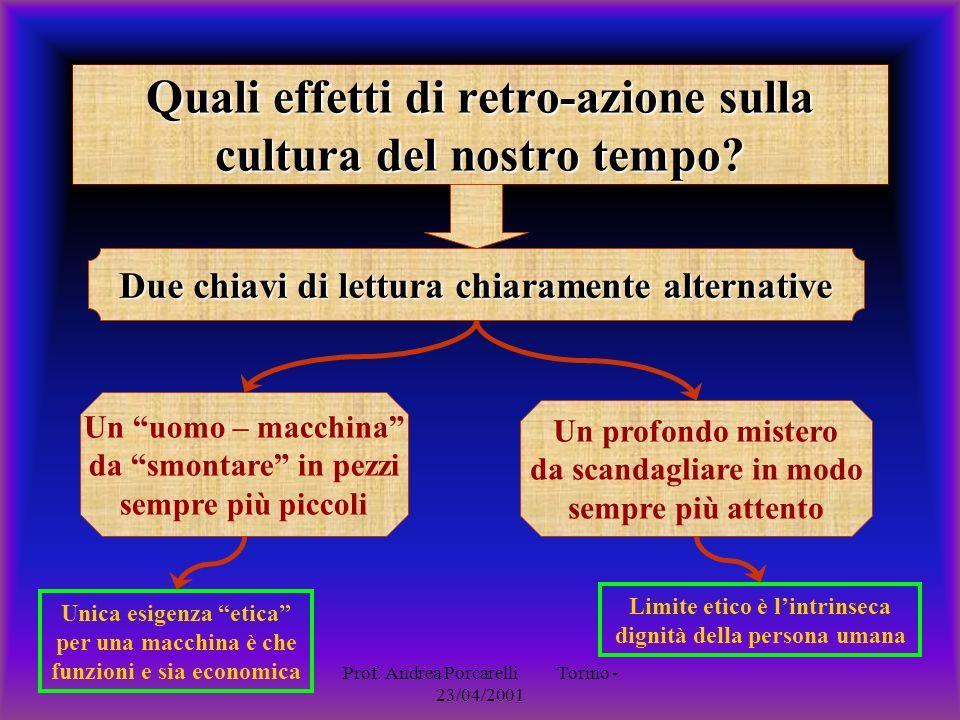 Quali effetti di retro-azione sulla cultura del nostro tempo