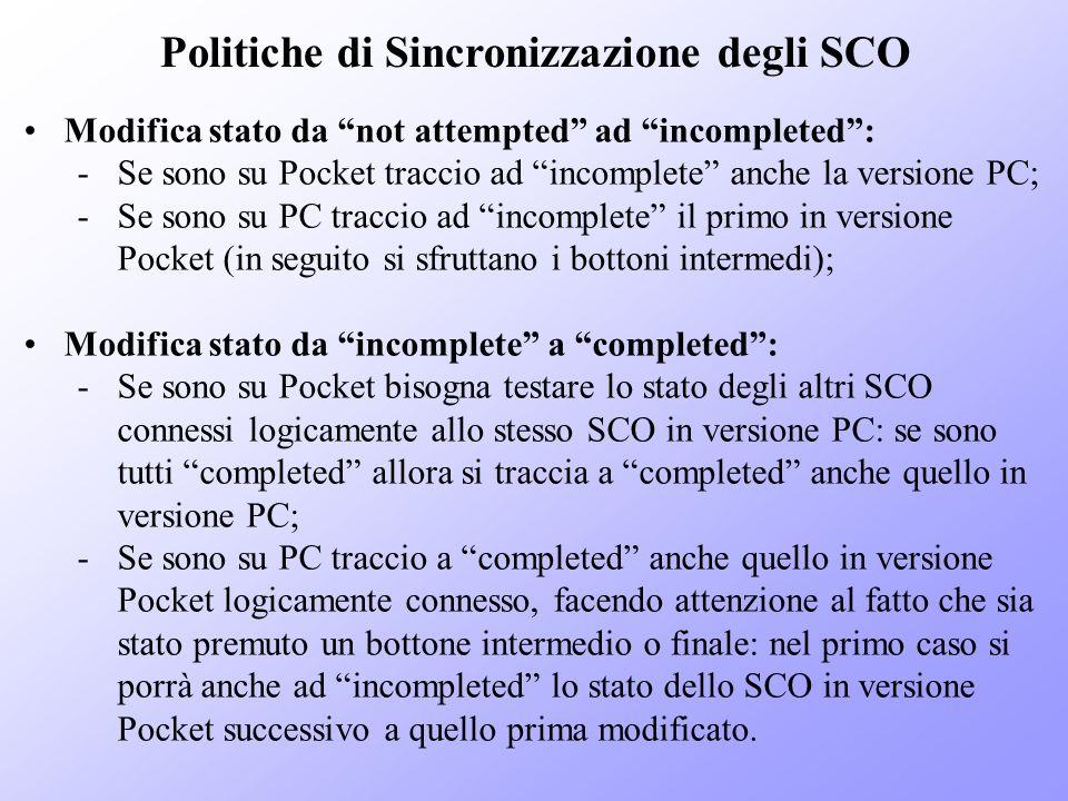 Politiche di Sincronizzazione degli SCO