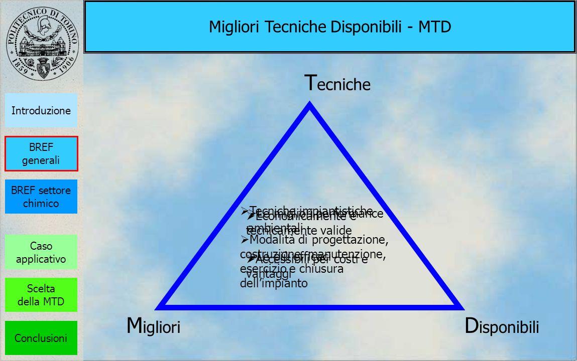 Migliori Tecniche Disponibili - MTD