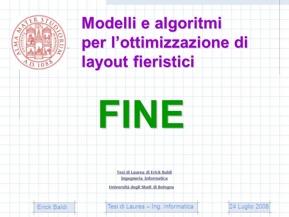 Modelli e algoritmi per l'ottimizzazione di layout fieristici