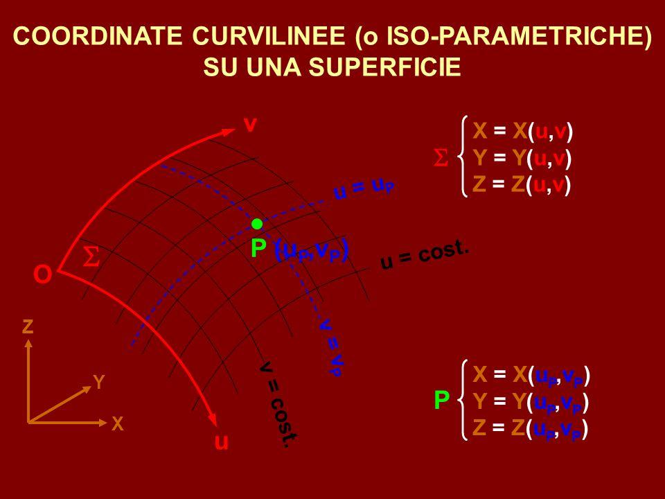 COORDINATE CURVILINEE (o ISO-PARAMETRICHE) SU UNA SUPERFICIE