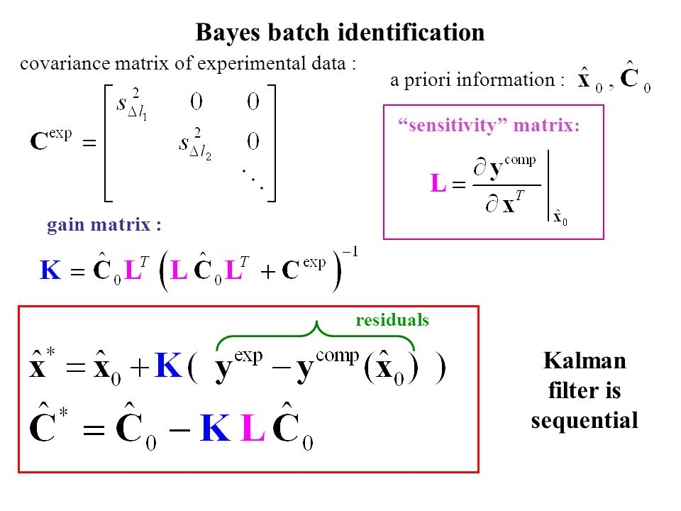 Kalman filter is sequential